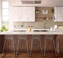 Kuhinjski blok za prijetno in ustvarjalno vzdušje